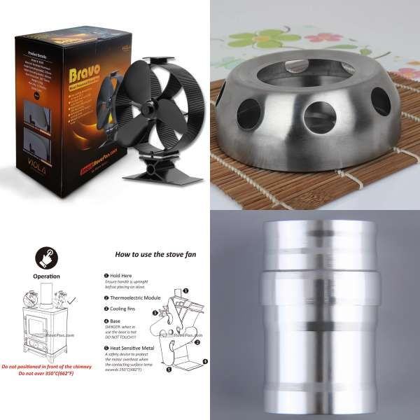 magnetic stove thermometer with heat powered stove fan eco wood rh pinterest com