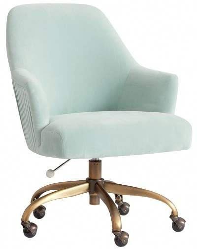 pleated desk chair light pool w antique brass base in 2019 pool rh pinterest com