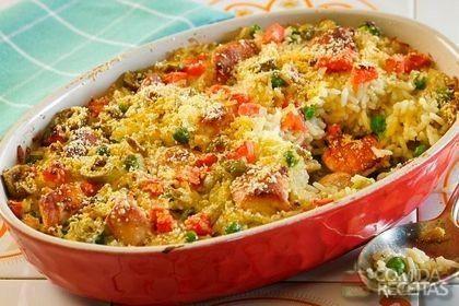 Receita de Arroz de forno com ervilha em receitas de arroz, veja essa e outras receitas aqui!