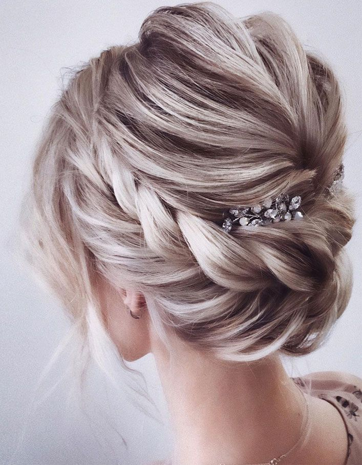 Elegant Prom Updo Wedding Hairstyles For Medium Length Hair And Long Hair Trending Wedding Hair Wedding Hair Inspiration Hair Styles Medium Length Hair Styles