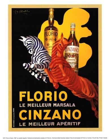 Florio le meilleur marsala Cinzano | Vintage food & drink poster | Retro advert #Vintage #Retro #Posters #Affiches #Food #Drinks #Carteles #deFharo #Ads