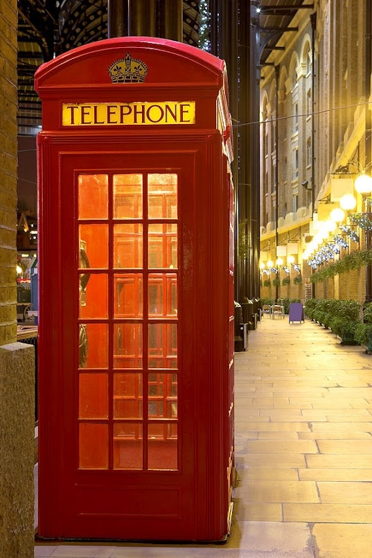 One of London's red telephone booths!