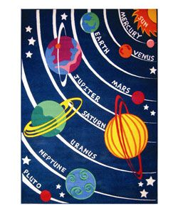 This is what Andrew would really like for his room....@Overstock - Every day is an adventure in outer space for your child with this Planets Rug.http://www.overstock.com/Home-Garden/Planets-Rug-53-x-76/1959152/product.html?CID=214117 $118.99