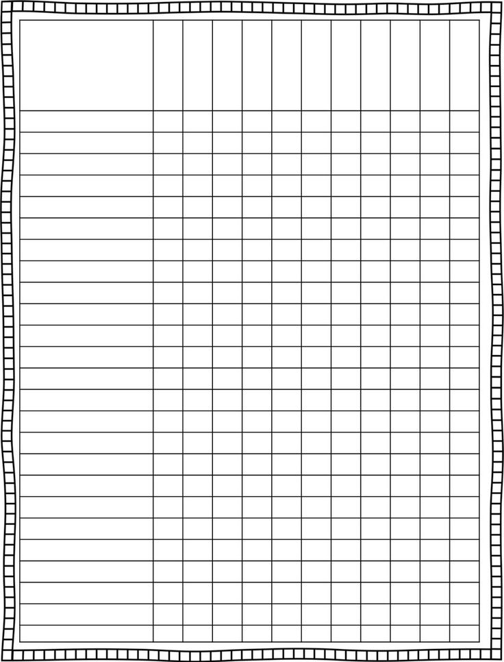 Blank Chart Template Lots Of Printables They Take A Minute To Load