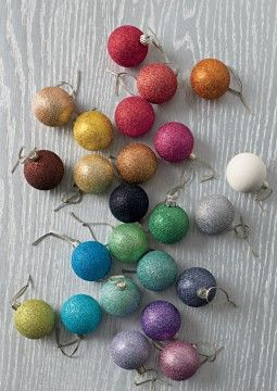 Colourful baubles.: Color Baubles, Color Christmas, Glitter Ornaments, Holidays Ornaments, Christmas Wins, Color Ornaments, Christmasi Stuff, Colour Baubles, Christmas Baubles