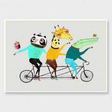 Tandem Animals Art Print by Ashley Percival