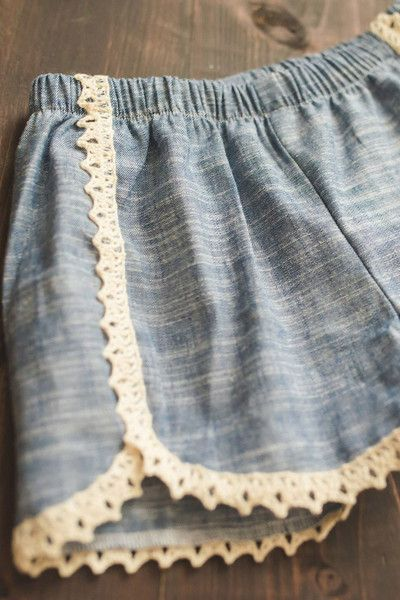 Great item for the closet this spring. These chambray shorts from #cheekyplum look great with any top.