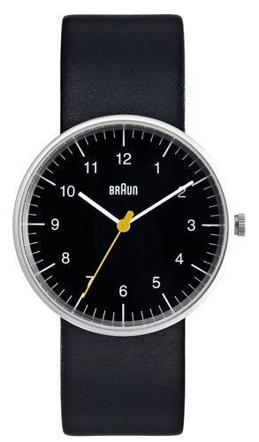 Braun reissued their collection of watches designed by the great functionalist designer Dieter Rams. Nice clean and timeless watch.