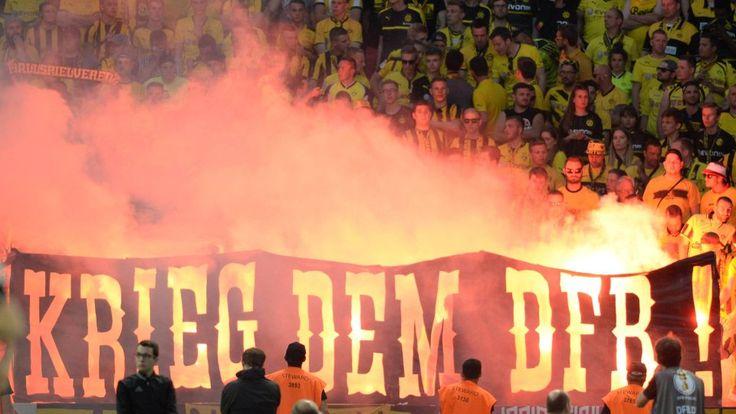 Am Samstag erklärten die BVB-Fans nicht nur dem DFB den Krieg, sondern auch einer Tankstelle in Hessen.