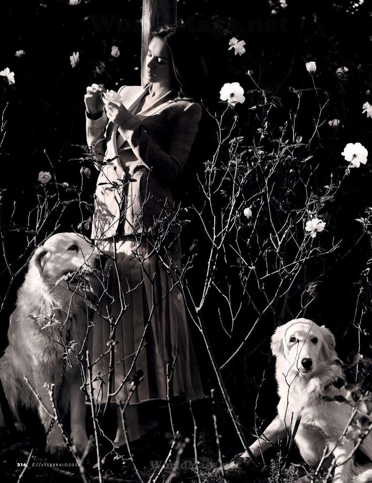 Elle Italia 2014 02 18 1 Elle Italia February 2014 |Kasia Smutniak by David Burton  [Cover+Editorial]
