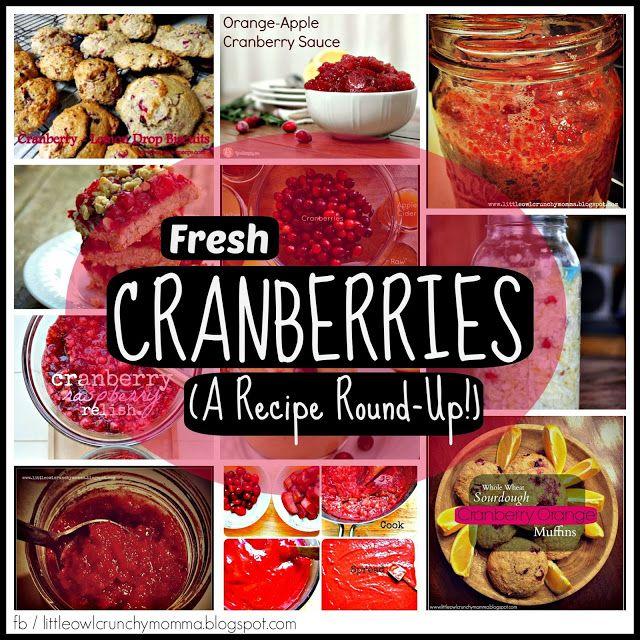 LittleOwlCrunchyMomma: Fresh Cranberries (A Recipe Round-Up!)
