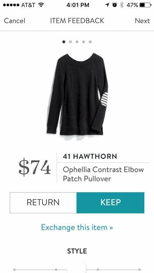 Stitch Fix Stylist - cute sweater! I like the patch elbows