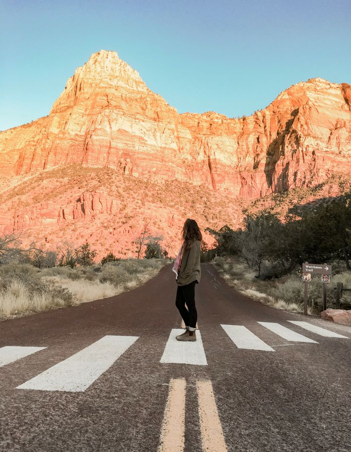 The beginning of the Watchman Trail hike in Zion National Park