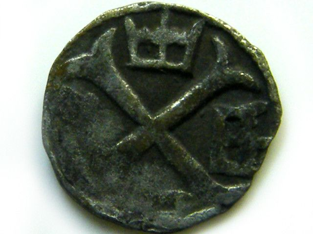 ANCIENT14TH HUNGARIAN MEDIEVAL SILVER COIN J530