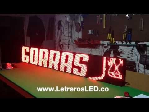 Pantalla LED 32x224. Publicidad 24 Horas. Aviso LED - Letreros LED, Avisos LED, Pantallas LED Programables. Colombia - www.LetrerosLED.co