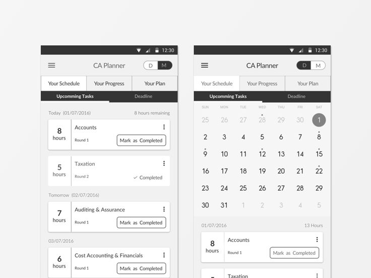 Study Planner App Specially Designed for CA Students by Dhaval S. Gandhi