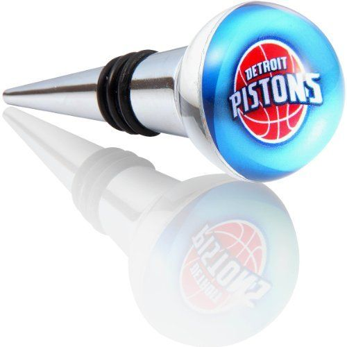 NBA Detroit Pistons Team Bottle/Wine Stopper by IMAGIX. $17.08. NBA - IMAGIX Crystal Collectible bottle/wine stoppers are produced with water-clear, high refraction glass-crystal. Hand ground and polished, here artisanship is the result of attention to detail. Subject to high quality control standards, components are carefully inspected and assembled. Combined with high-resolution NBA Team logo graphic artwork, each becomes an attractive functional bar and beverage utensil, a...