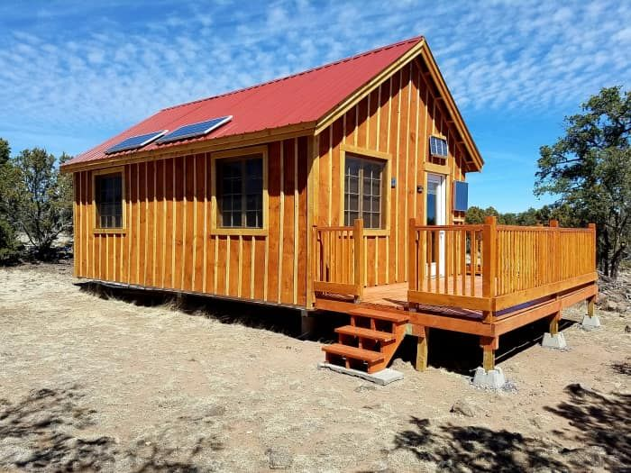 Good Karma Cottage On 17 Acres In Western New Mexico Cabin For Sale In Quemado New Mexico Tiny House Listings Tiny House Real Estate Houses Tiny House Big Living