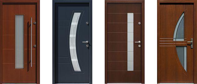 Przykłady modeli nowoczesnych drzwi zewnętrznych