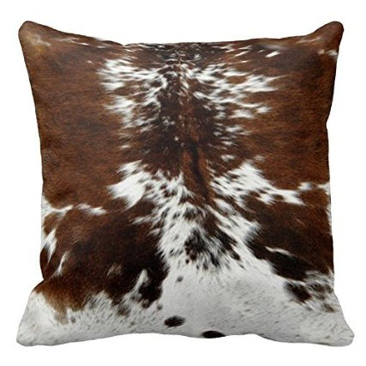 Amazon.com: HLPPC Decorative Tri Color Print Brown Cowhide Polyester Throw Pillow Covers 18 x 18 Inches: Home & Kitchen