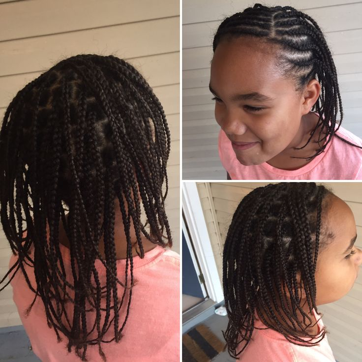 Hairstyle for little black girls. Braids.