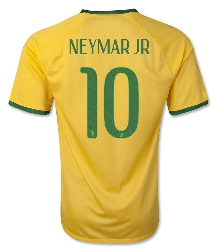 NIKE NEYMAR BRAZIL HOME JERSEY  FIFA WORLD CUP BRAZIL 2014 AUTHENTIC!! #Nike