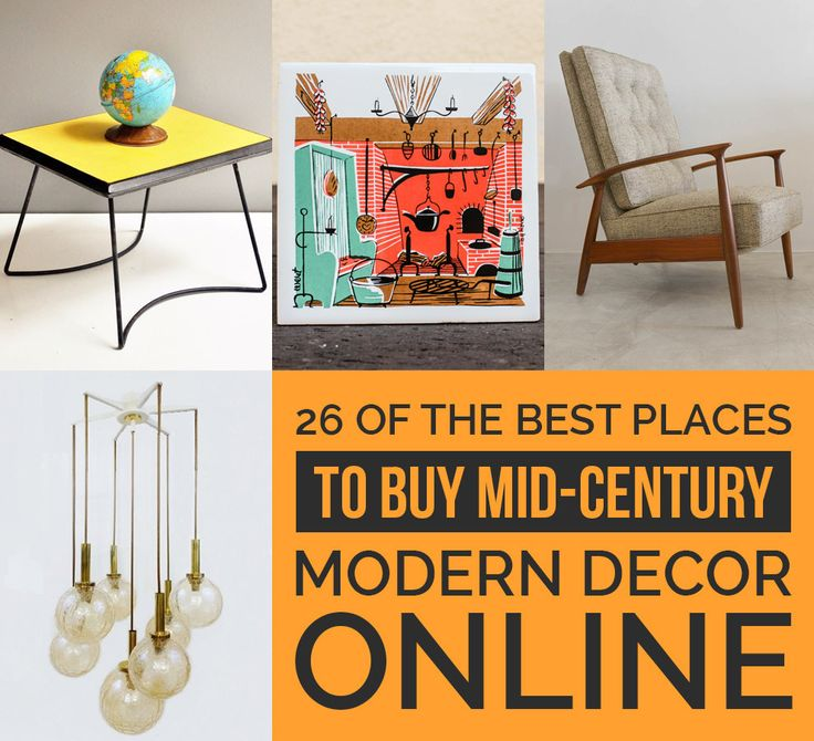 26 Of The Best Places To Buy Mid Century Modern Decor Online