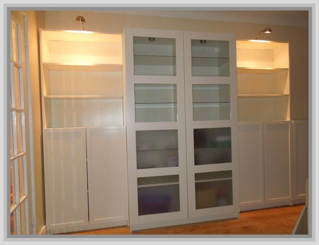 Ikea Billy Bookcase With Glass Doors Home Pinterest