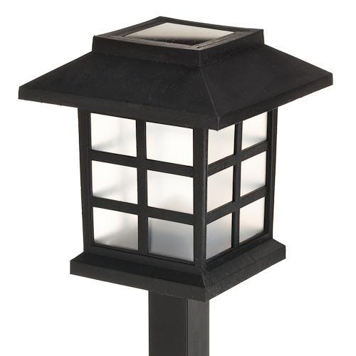 Solar Post Lantern   Poundland