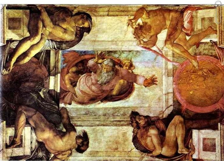 The Separation of Land and Water by Michelangelo