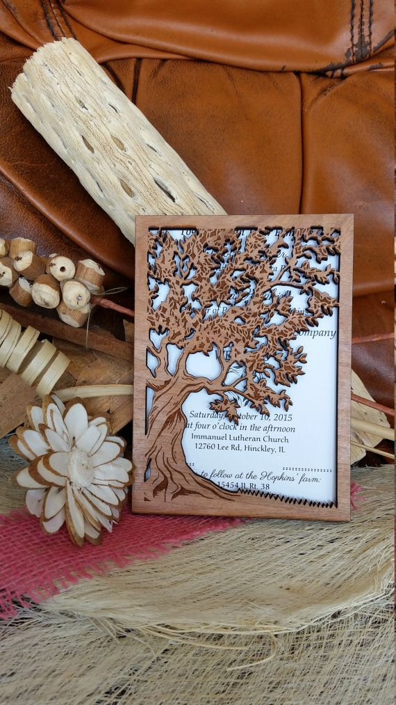 Hey, I found this really awesome Etsy listing at https://www.etsy.com/ca/listing/265618829/wooden-wedding-invitation-suite-rustic  This would have been better it the invitation slid into it.