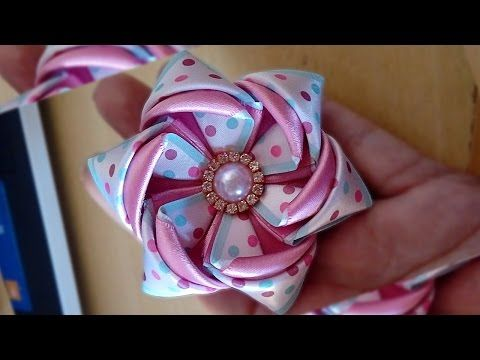 FLOR DE FITA  DIY-PAP  - YouTube                                                                                                                                                                                 Mais