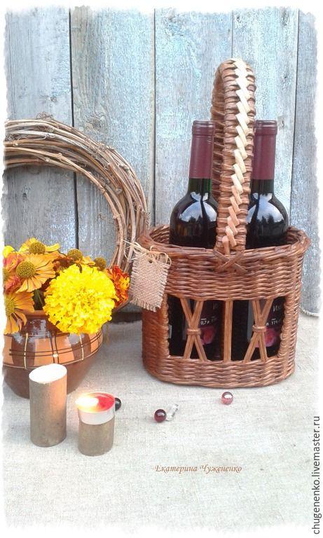 Купить Плетеный короб для вина In vino veritas - коричневый, для дома и…