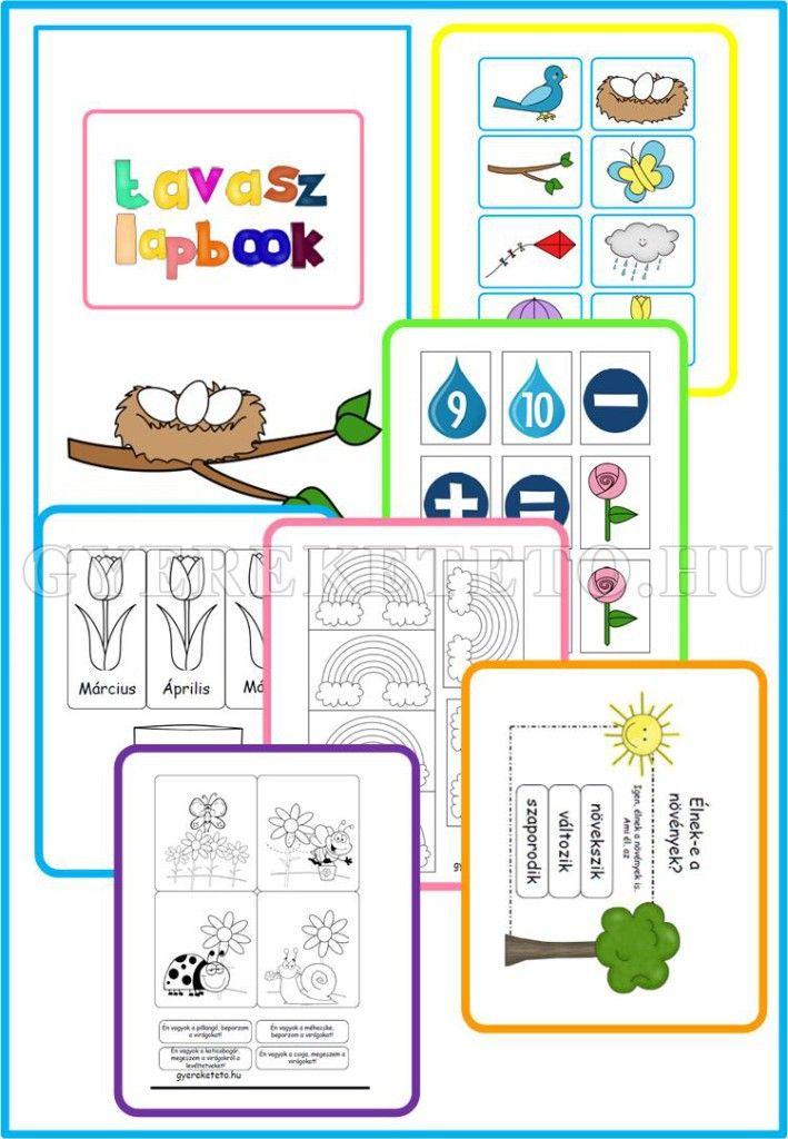 Tavasz lapbook mintalapjai