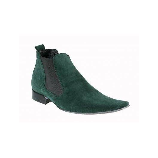 Pánske členkové topánky zelené - fashionday.eu