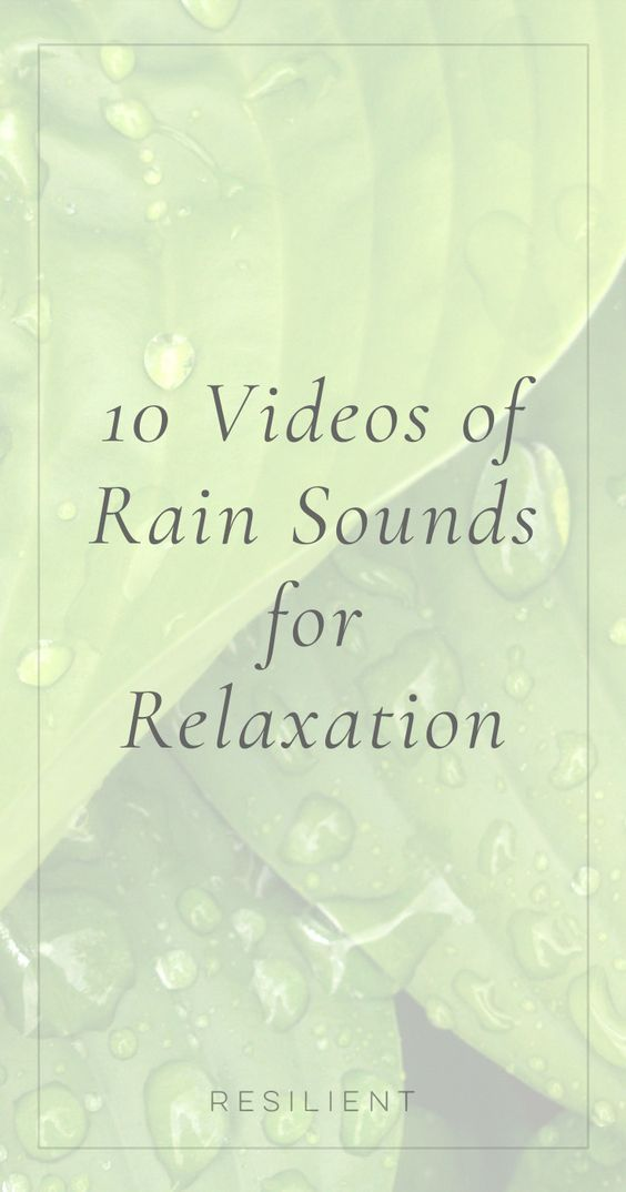 Putting on a soothing soundtrack or background music can help you relax or even drift off to sleep a little more easily, or add some peace and tranquility to your daily routine. Here are 10 videos of rain sounds for relaxation.