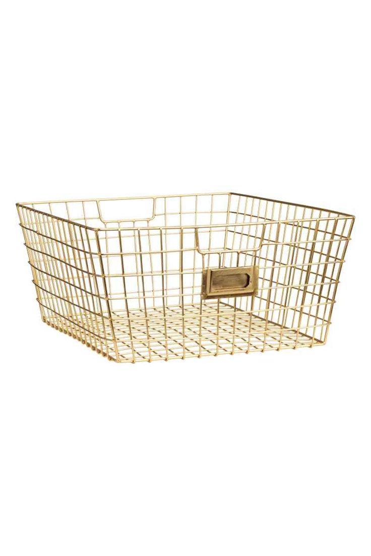 Kosz do przechowywania - Złoty - HOME | H&M PL 1