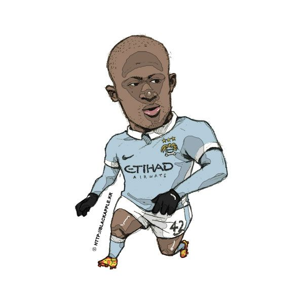 Manchester City No.42 Yaya Toure Fan Art