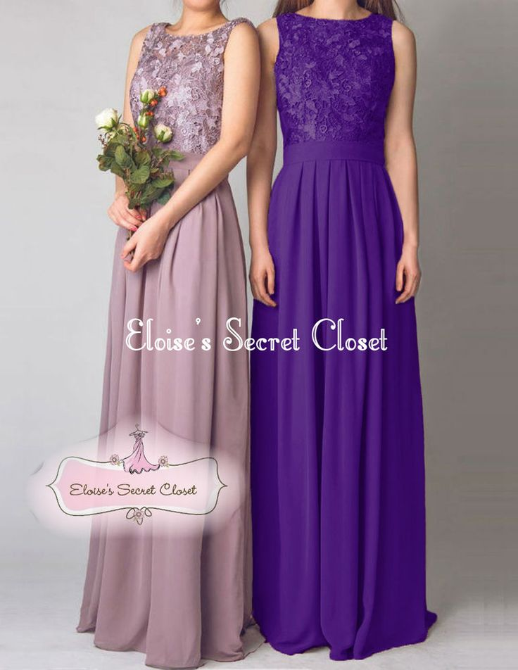 BNWT LYDIA Cadbury Purple Lace Chiffon Prom Evening Bridesmaid Dress UK 6 -18