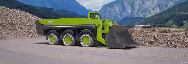 Battery electric mining trucks with energy harvesting.