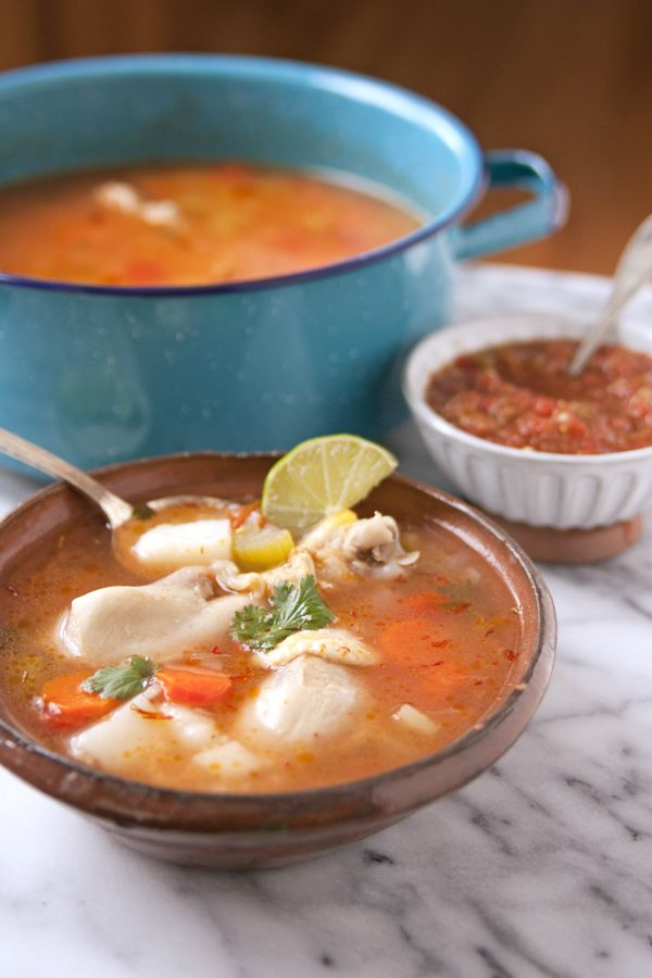 Caldo de pollo (homemade chicken soup) is medicine for the soul. Its one of my favorite soups and so simple to make. It freezes well, which comes in very handy when you are not feeling well, and need comforting.