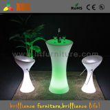 LED Light Glow Plastic Bar Chair