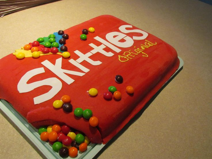 Skittles Birthday Cake Happy Birthday Pinterest
