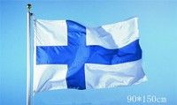 Wish | 2016 The Finland Flag Polyester Flag 5*3 FT 150*90 CM High Quality Hanging and Flying (Size: 150cm by 90cm, Color: Multicolor)