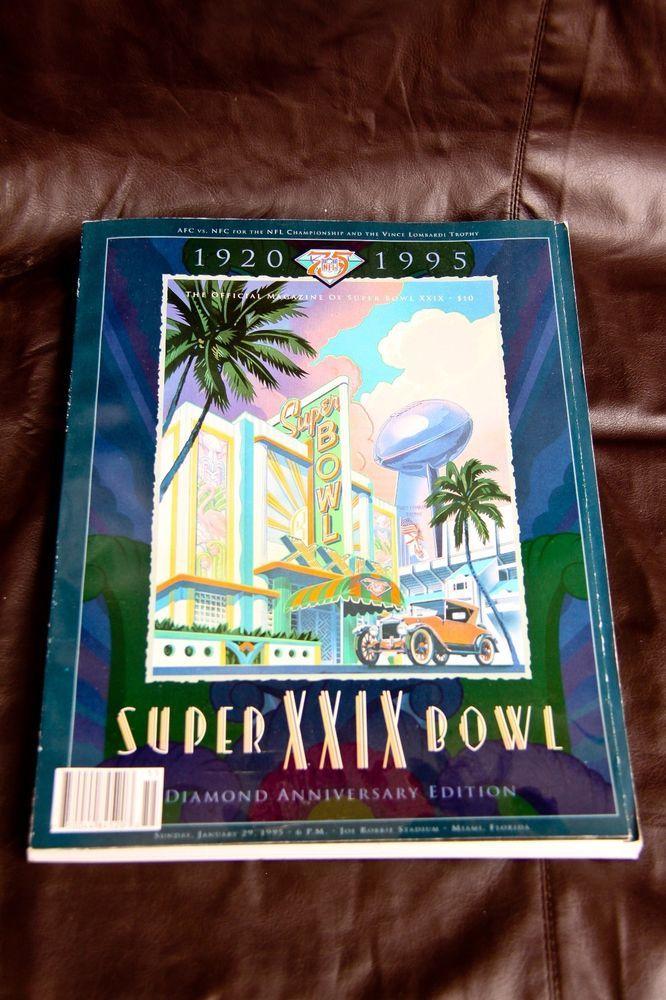 Super Bowl XXIX (29) Official NFL Magazine - Jan 29, 1995 - 49ers vs Chargers