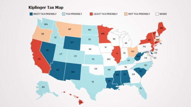 This Map Shows How Taxes Differ By State