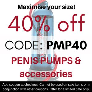 Spring has sprung! Time to work on your beach junk. Get set to impress in those budgie smugglers with 40% off #penispumps in our September deal!