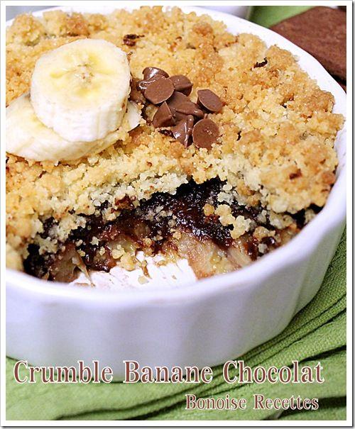 Bonjour tout le monde, hier j'ai préparé ce Crumble Banane Chocolat un pur délice, donc n'hésitez pas a l'essayer
