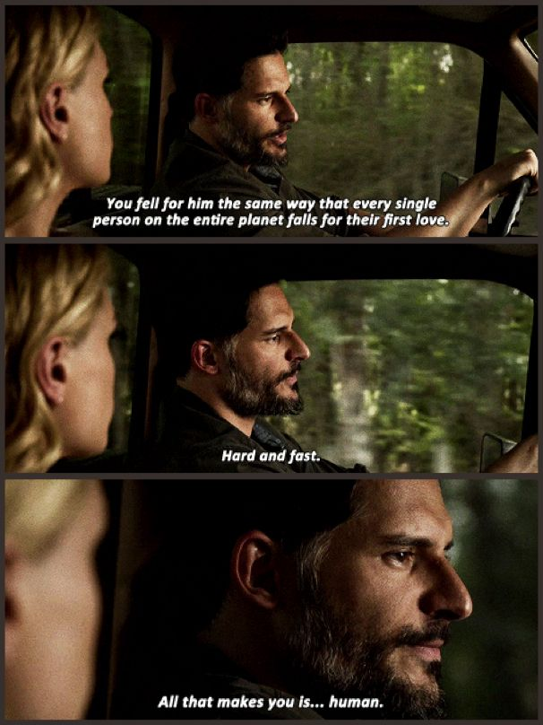 True Blood season 7 quote - Alcide and Sookie talking about Bill. Gah, I do love Alcide! He's a good guy!