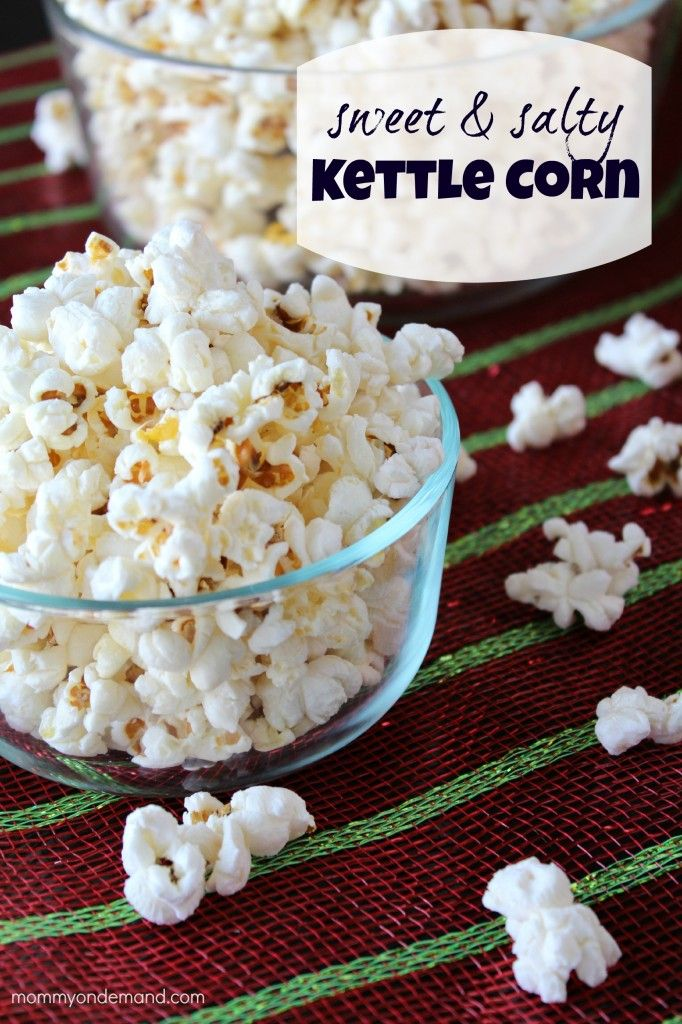 Sweet & Salty Kettle Corn | Mommy on Demand #kettle corn #popcorn #sweet and salty popcorn